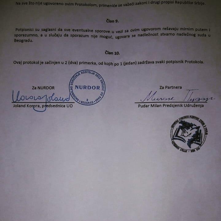 Saradnja sa humanitarnim udruženjem NURDOR Srbija1